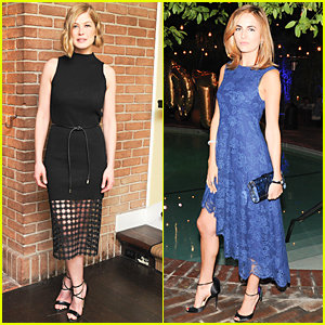 Golden Globes Nominee Rosamund Pike & Camilla Belle Bring Star Power to Mulberry Dinner