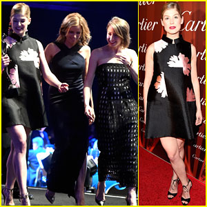 Rosamund Pike Shows Off Her Post-Baby Body at Palm Springs Fest