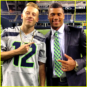Russell Wilson & Macklemore Are Basically BFFs - See the Pics!