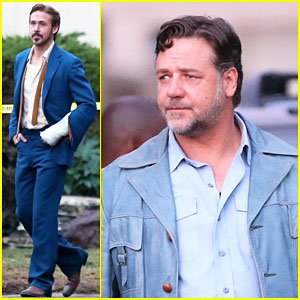 Ryan Gosling Looks Messy, But Hot on 'The Nice Guys' Set
