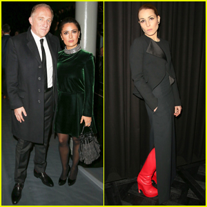 Salma Hayek Hits Paris Fashion Week with Hubby Francois-Henri After 'Everly' Digital Release!