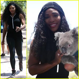 Serena Williams Cozies Up to a Cute Koala in Australia