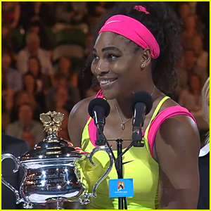 Serena Williams Wins Sixth Australian Open - Watch Acceptance Speech Here!
