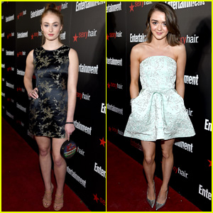 Sophie Turner & Maisie Williams Keep it Cute for EW SAG Bash!