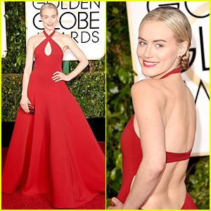 Taylor Schilling Tells Us Red is the New Black on Golden Globes Red Carpet