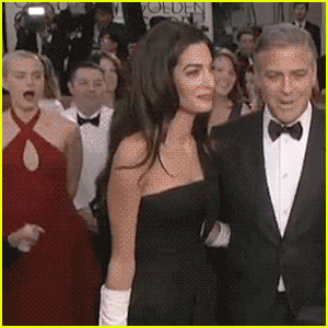 Taylor Schilling Yawns in George & Amal Clooney's Presence at Golden Globes 2015 - See Hilarious GIF!