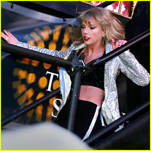 Taylor Swift Falls Down Stairs on New Year's Eve 2015 (Video)