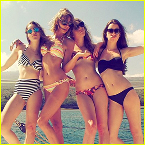 Taylor Swift Reveals Her Belly Button in a Tiny Bikini! (Photo)