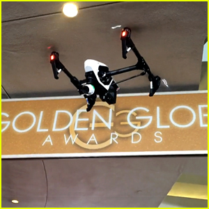 The Golden Globes Have a Drone on the Red Carpet! (Video)