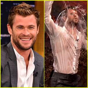 This Is Chris Hemsworth Dancing While Soaking Wet with Water