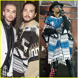 Tokio Hotel's Bill & Tom Kaulitz Ring in the New Year at the Brandenburg Gate!