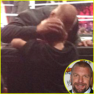 Intimidating WWE Star Triple H Shows Soft Side to Crying Wrestling Fan