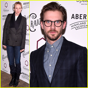 Uma Thurman & Dan Stevens Make It A Night Out at House of SpeakEasy's Runnin' Wild Gala 2015