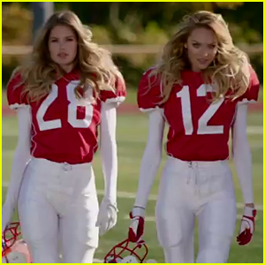 Victoria's Secret Angels Play Football in Honor of Super Bowl 2015 - Watch the Commercial!
