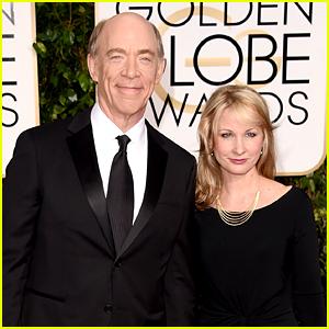 Whiplash's J.K. Simmons Brings Wife to Golden Globes 2015