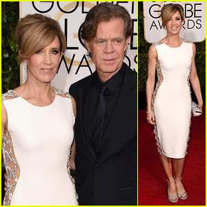 William H. Macy & Felicity Huffman Couple Up for Golden Globes 2015 Red Carpet
