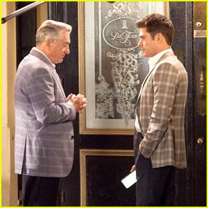 Zac Efron Films a Quiet Scene with Robert De Niro for 'Dirty Grandpa'