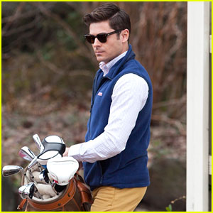 Zac Efron Gets Ready to Hit Some Balls For 'Dirty Grandpa'