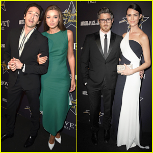Adrien Brody & Dave Annable Bring Their Ladies to the Hollywood Domino Gala 2015!