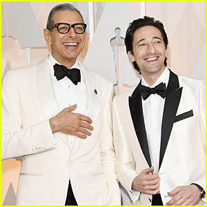 Adrien Brody & Jeff Goldblum Wear Almost Matching Tuxedos at Oscars 2015