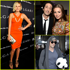 Adrien Brody Travels Around with His Panda Teddy Bear