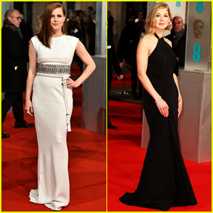 Amy Adams & Rosamund Pike Stun on BAFTAs 2015 Carpet