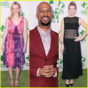 Amy Smart & Common Make It A Special Night at Global Green USA's Pre-Oscar Party 2015!