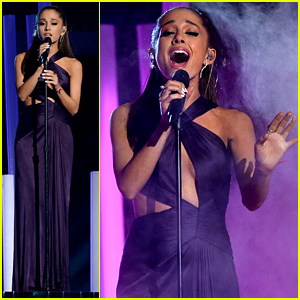Ariana Grande Performs 'Just a Little Bit of Your Heart' at Grammys 2015 (Video)