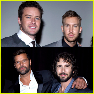 Armie Hammer & Ricky Martin Suit Up for a Grammy After Party