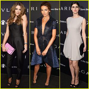 Ashley Greene & Camilla Belle Are Glamorous Ladies at Bvlgari Pre-Oscar Party!
