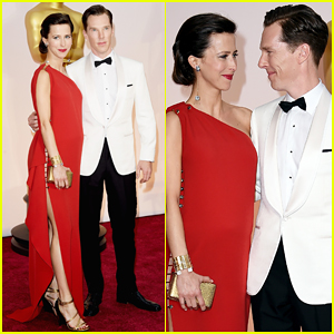 Benedict Cumberbatch & Wife Sophie Hunter Make the Cutest Duo on the Oscars 2015 Red Carpet!