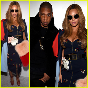 Beyonce & Jay Z Are One Stylish Duo at Kanye West's Adidas Yeezy NYFW Show
