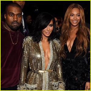 Beyonce & Kim Kardashian Meet Up for Pics at Grammys 2015