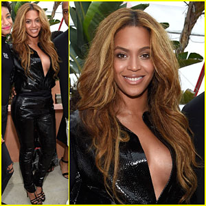 Beyonce Stuns in a Low Cut Top at Puma's Pre-Grammy Brunch