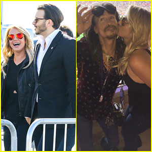 Britney Spears Reunites with Steven Tyler at Super Bowl 2015