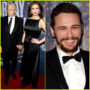 Catherine Zeta-Jones, James Franco, & More Walk 'SNL 40' Red Carpet
