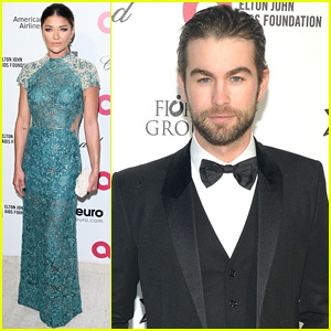 Chace Crawford & Jessica Szohr Reunite With 'Gossip Girl' Co-Stars at Elton John's Oscars Bash 2015