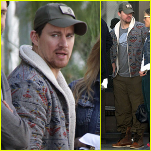 Channing Tatum Unwinds From Oscars 2015 Madness by Lunching with Friends