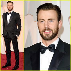 Chris Evans Suits Up (Not as Captain America) for Oscars 2015