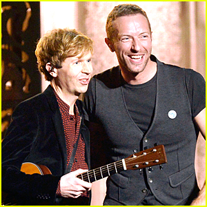 Chris Martin & Beck Perform 'Heart Is a Drum' at Grammys 2015 (Video)