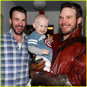 Chris Pratt & Chris Evans' Official Kids Visit Pics Are Amazing