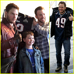 Chris Pratt Makes Good on Super Bowl Bet with Chris Evans!
