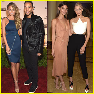 Chrissy Teigen & Gigi Hadid Show Off Their Model Bodies as Sports Illustrated Takes Over Nashville