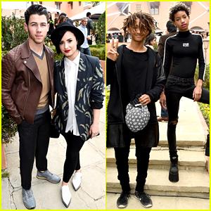 Demi Lovato & Nick Jonas Brunch Before the Grammys 2015