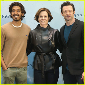 Dev Patel Meets Up with Hugh Jackman & Sigourney Weaver in Berlin for 'Chappie' Photo Call!