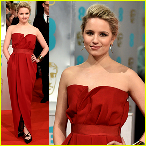Dianna Agron Matches the Red Carpet at BAFTAs 2015