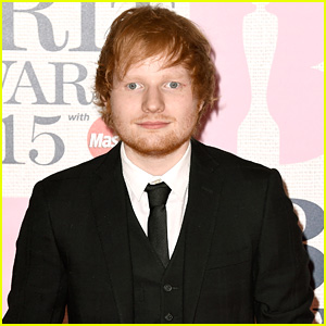 Ed Sheeran Suits Up in Style for BRIT Awards 2015 Red Carpet