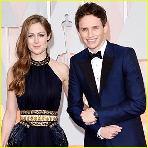 Eddie Redmayne & Wife Hannah Bagshawe Hit the Oscars 2015!