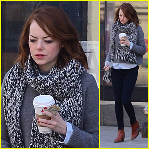 Emma Stone Keeps It Stylish in the Cold NYC Weather