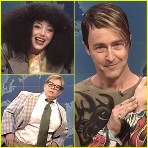 Emma Stone, Edward Norton, & Melissa McCarthy Play Classic 'SNL' Characters - Watch Now!